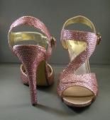 Rose Pink Swarovski Encrusted High Heel