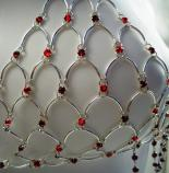 Red Swarovski Crystal Chain Maille Bikini Top