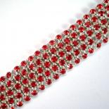 Diamond Meadows Cuff Bracelet in Red Swarovski Crystal
