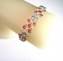 Rhombus Rumba Bracelet in Rose Pink Swarovski Crystal