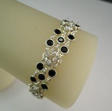 Rhombus Rumba Bracelet in Jet Black Swarovski Crystal