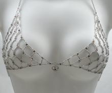 Amethyst Purple Swarovski Crystal Chain Maille Bikini Top