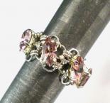 Navette Petals Eternity Ring in Light Amethyst Swarovski Crystals