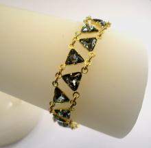 Egyptian Elegance Bracelet in Black Diamond Swarovski Crystal