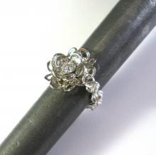 Swarovski Daisy Ring in Clear White