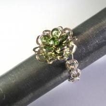 Swarovski Daisy Ring in Peridot Green