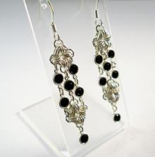 Rhombus Rumba Earrings in Jet Black Swarovski Crystal
