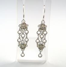 Rhombus Rumba Earrings in Clear Swarovski Crystal