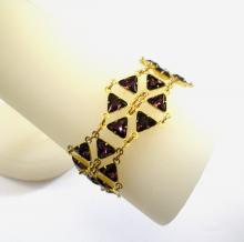 Geometric Diva Bracelet in Amethyst Swarovski Crystal