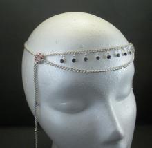 The Ozma Circlet in Peridot Pink and Purple Swarovski Crystal