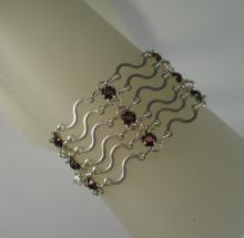 Art Nouveau Bracelet in Amethyst Swarovski Crystal