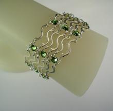 Art Nouveau Bracelet in Peridot Green Swarovski Crystal