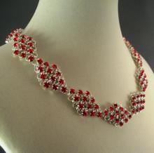 Girl's Best Friend Necklace in Red Swarovski Crystal