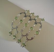 Victorian Romance Bracelet in Peridot Green Swarovski Crystal