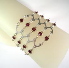 Victorian Romance Bracelet in Red Swarovski Crystal